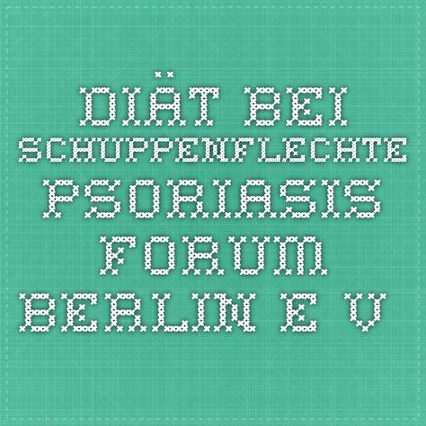 Diät bei Schuppenflechte - Psoriasis Forum Berlin e.V.