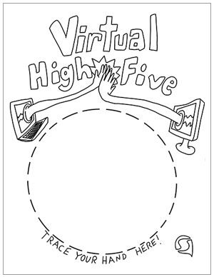 Free Coloring Page Send A Virtual High Five Free Coloring Pages Coloring Pages Color