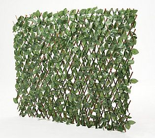 Amazon Com Doeworks Expandable Fence Privacy Screen For Balcony Patio Outdoor Faux Ivy Fencing Panel For Backdrop Garden Backyard Home Decorations 4pack Garden Outdoor