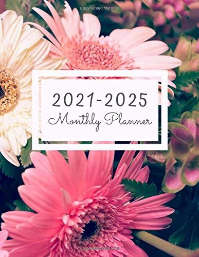 Monthly Planner 2021 2025 60 Monthly Calendar January 2021 December 2025 Address Book Letter Password Tracker R In 2020 Planner Monthly Planner 2021 Calendar