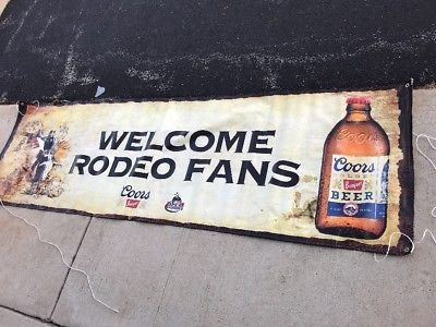 Ebay Ad Link New Coors Banquet Beer Welcome Rodeo Fans Prca 10 Ft Vinyl Banner Beer Vinyl Banners Bud Light Beer
