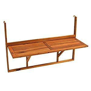 Balkonhangetisch Gunstig Online Kaufen Ratgeber Haus Garten Balkonhangetisch Tisch Holztisch