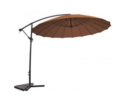 Double Parasol With 2 Canopies 9 10 X9 10 Cream Ivory Liveditor Parasol Parasol Suspendu Parasol Terrasse