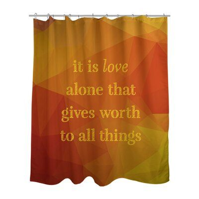 East Urban Home Faux Gemstone Love Inspirational Quote Shower