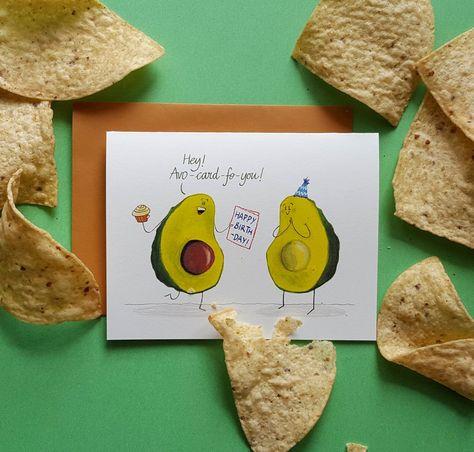 Avo-card-fo-you birthday card - avocado birthday card – Green Bean Studio