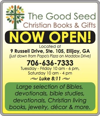 Now Open Ellijay Georgia The Good Seed Christian Books Gifts