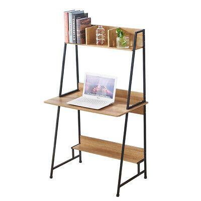 Computer Desk With Shelves Desktop Pc Table Home Office Study Workstation Desk Ebay Desk Shelves Computer Desk With Shelves Hideaway Computer Desk