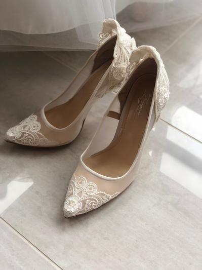 Vince Camuto Victoria Pumps Wedding Shoes Lace Wedding Shoes Sparkly Wedding Shoes