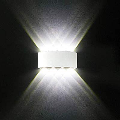 Led Wall Lights White Aluminium Waterproof Modern Wall Lamp 8w Up Down Spot Light Cold White 6000k Wall Wash Li Modern Wall Lamp Wall Lights Wall Wash Lighting