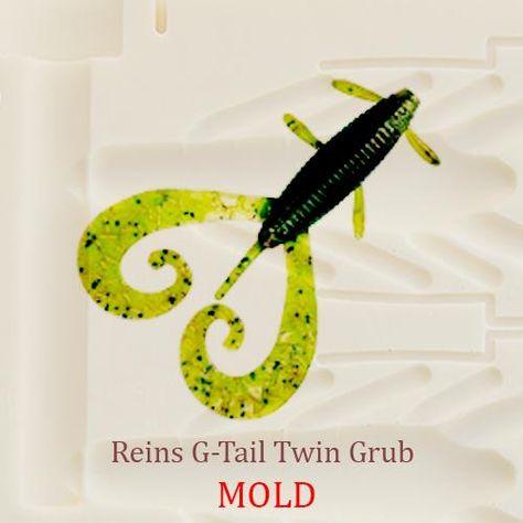 Rage Lizard Fishing Grub Mold Lure Bait Soft Plastic 100 mm