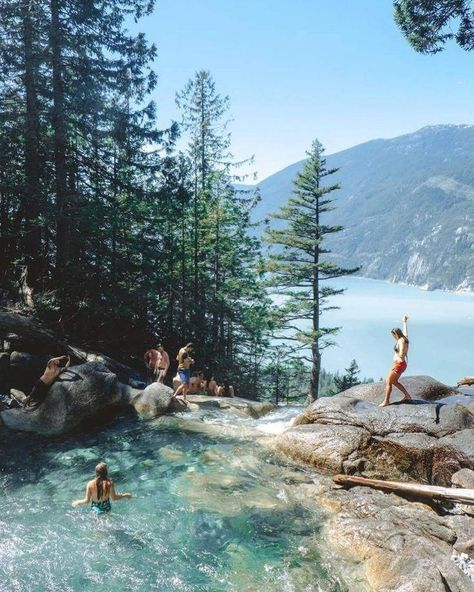 This Stunning Waterfall And Swimming Hole In BC Is The Ultimate Summer Hangout S. - This Stunning Waterfall And Swimming Hole In BC Is The Ultimate Summer Hangout S. This Stunning Waterfall And Swimming Hole In BC Is The Ultimate Su. Places To Travel, Places To See, Travel Destinations, Camping Places, Bali, Les Cascades, North Cascades, Destination Voyage, Swimming Holes