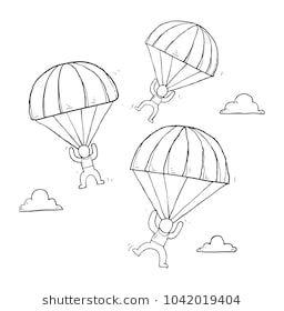 Skydiving Fun Doodle Skydiving Doodles Scrapbook Journal