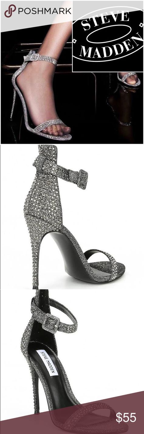 f11192fe5 NEW STEVE MADDEN METALLIC   RHINESTONE SEXY SANDAL Mesmerize your onlookers  when you step out in