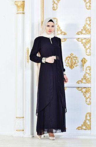 Sefamerve Black Dress 52221 06 Fashion Dresses Nun Dress