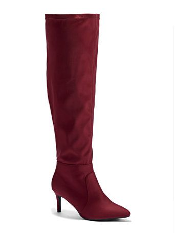 9625b6f3447 Plus Size Jourdan Over-The-Knee Suede Boots - Wide Width | Fashion To Figure  | FTF