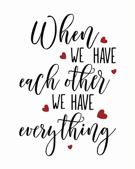 Wedding Gift, Each Other Quote, Wedding Card, Wedding Print, Wedding Sign, Wedding Printable, Red Bl