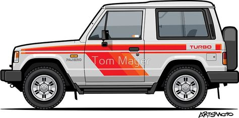 4x4 truck car styling pajero shogun mountain offroad Vinyl Decal Sticker x2 V438
