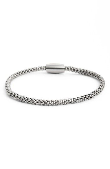 Free shipping and returns on LINK UP Stainless Steel Chain Bracelet at Nordstrom.com. The clean-cut shine of stainless steel defines a masculine bracelet stamped with cool branding.