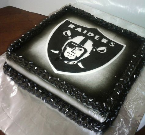 Raiders bday cake | for a guy. simple and easy had a matchin ...