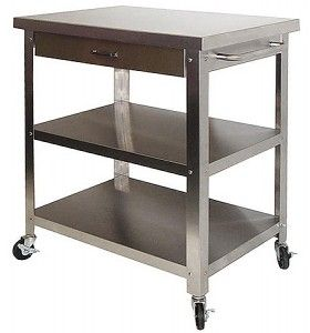 Stainless Steel Carts On Wheels For The Kitchens Of The 21st Century Modern Kitchen Furni Modern Kitchen Furniture Stainless Steel Dining Table Kitchen Cart