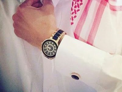 رمزيات شباب كشخه شماغ Bracelet Watch Stylish Boys Silver Watch