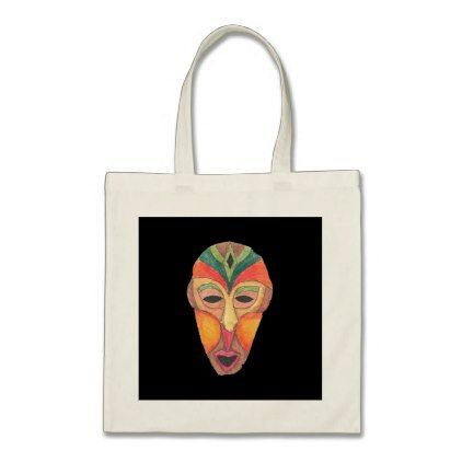 867bd1df52 African Mask Tote Bag - traditional gift idea diy unique