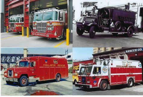 New York FD Ladder 13 1963 Seagrave 100' TDA Fire Apparatus