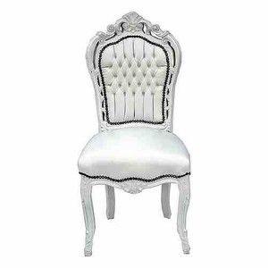 Weiss Lederoptik Mobel Antik Stil Stuhle Barock Stuhle Esszimmerstuhle Ohne Armlehne Esszimmerstuhle Weiss Weisse Stuhle Stuhle