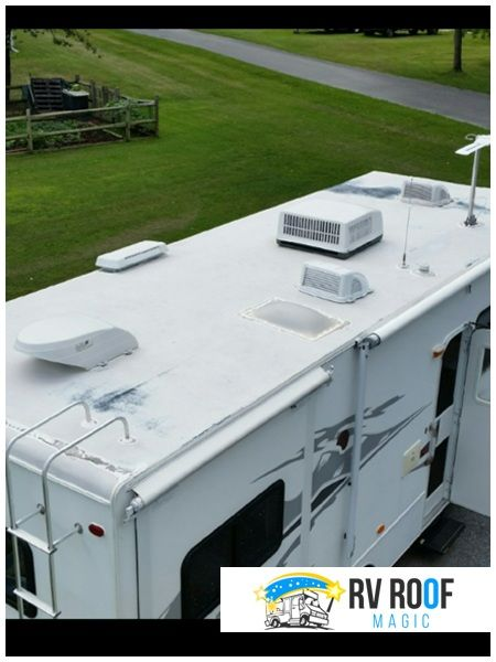 Got Mobile Home Roof Leaks Rv Roof Magic Is Your Insurance In 2020 Metal Roof Leaks Mobile Home Roof Leaking Roof