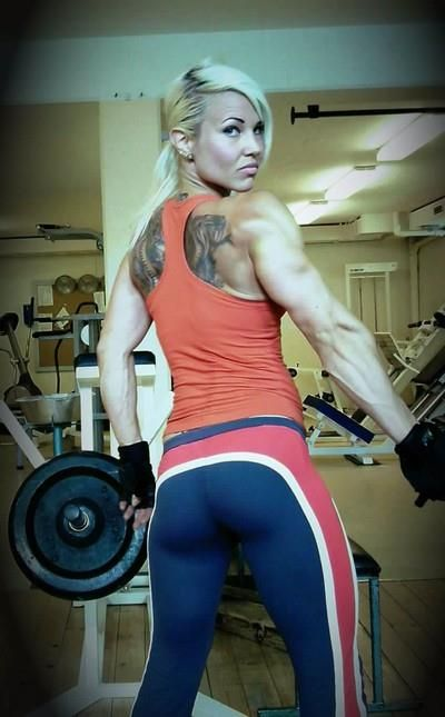 Tattoo Girl with Red,White,Blue Yoga Pants
