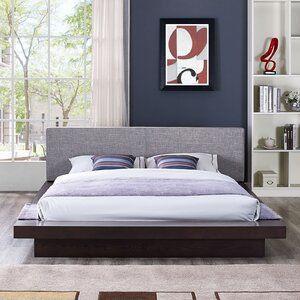 Rennan Queen Upholstered Platform Bed Platform Bed Bed Frame