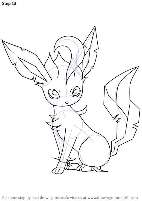 Learn How To Draw Leafeon From Pokemon Pokemon Step By Step