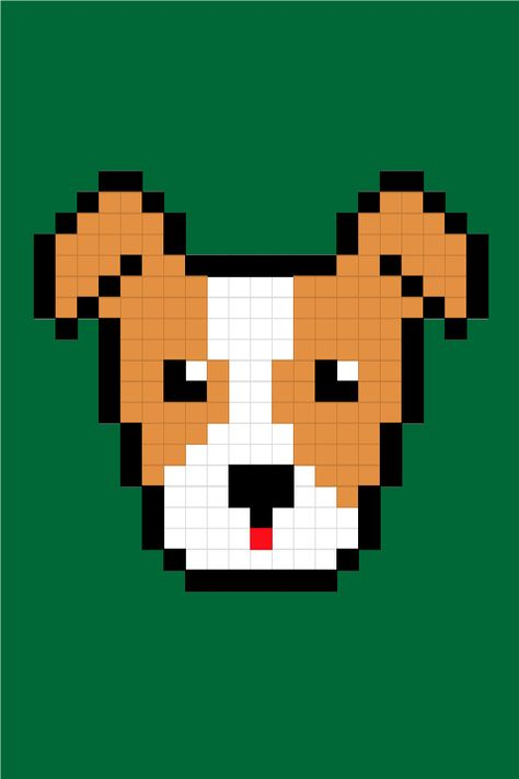 Easy Pixel Art Dogs Jack Russell Terrier Pixel Art Facile