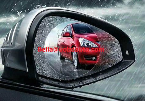 Anti Fog Film Car Rearview Mirror Protective Film Anti-Glare Waterproof Rainproof Rear View Mirror Window Clear Protective for Car Motorcycle