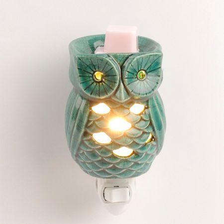 Turquoise Owl Tart Burner Night Light   Kirklands