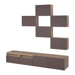 Besta Combinaison Meuble Tv Motif Noyer Teinte Gris Lappviken Blanc Ikea Systeme De Rangement Ikea Meuble Tv