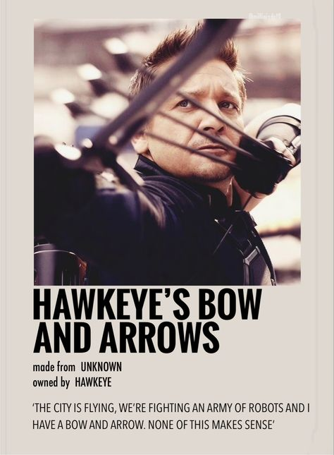 Hawkeyes bow & arrow by Millie