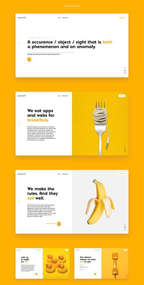 Phenomaly | brand & web design on Behance