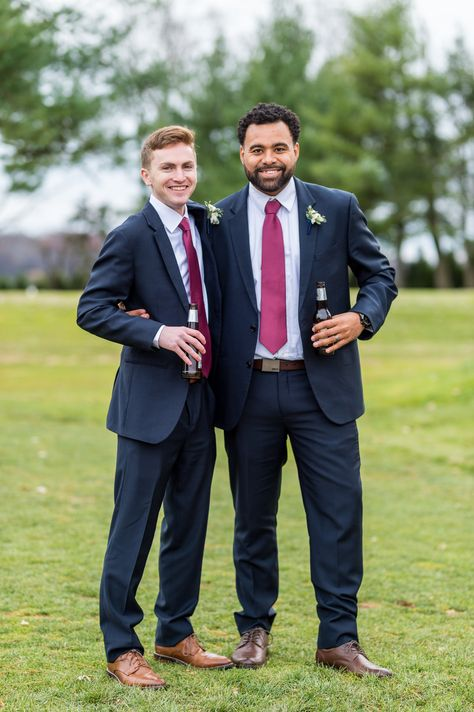 Great photo of these two! . . . . .  .#outdoorwedding #outdoorceremony #bestman #groomsmen #bridalparty #downingtowncountryclub #downingtown #downingtownweddings #chestercounty #dccweddings #chestercountyweddings #ronjaworskiweddings #downingtowncountyclubweddings #countryclubwedding #beautifuldowningtown
