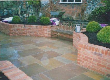 Raised Brick Patio House 60 Ideas In 2020 Brick Planter Patio Garden Design Brick Garden