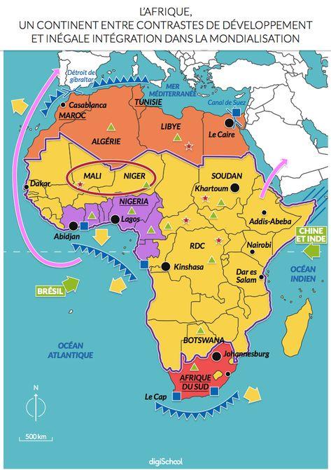 Carte Afrique Carte Afrique Afrique Geographie