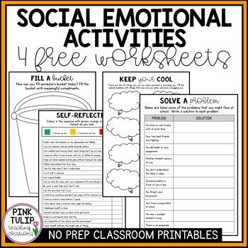 Take The Stress Out Of Teaching Your Students Social Awareness With These Printable Activities Social Emotional Learning Learning Worksheets Social Emotional Social emotional worksheets for