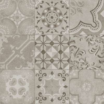Vintage Dekor Fliesen Grau Im Zementfliesen Design Günstig
