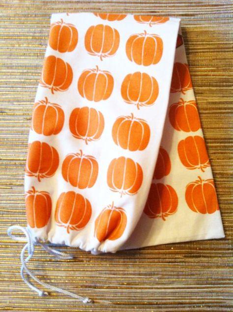 Bread Bag Saver Pumpkin Pie Handmade Food