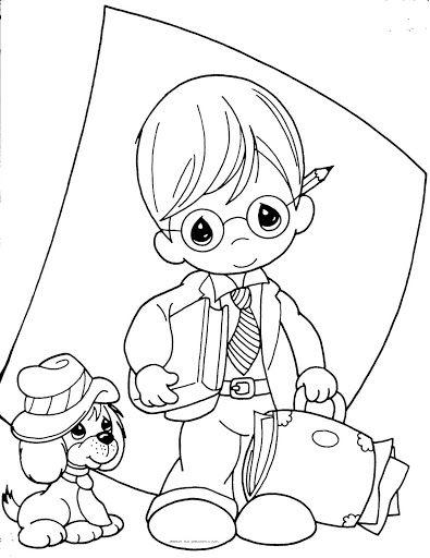 Día Del Maestro Dibujos Para Colorear De Precious Moments