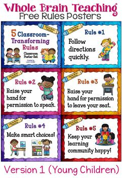 Whole Brain Teaching Classroom Rules Posters Free Classroom Rules Poster Classroom Rules Whole Brain Teaching