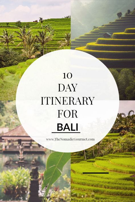 Bali travel guide for first timers - spend 10 days in Bali with this handy itinerary