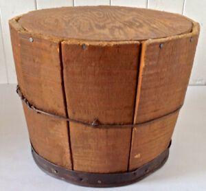 Antiquite Collection Baril Banc En Bois Banc Bois Antiquite