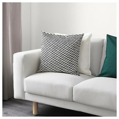 Set Of 2 Ikea Ypperlig Pillow Cushion Cover 20 X 20 Black White New Ebay Sofa Bed Decor Affordable Furniture Furniture