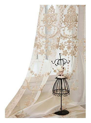 Aside Bside High Grade European Embroidery Sheer Curtain Https